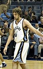 Former Grizzlies player Pau Gasol.