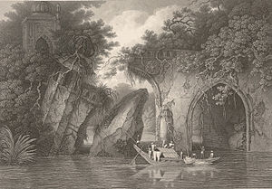 Mir Jumla II - Paugla Pool from the River (1817) by Sir Charles D'Oyly. This bridge was known to be constructed in 1660 AD by Mir Jumla.