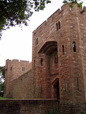 Peckforton Castle - View of the front gate of Peckforton Castle
