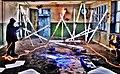 Pedro Meier Minotaurus Projekt »Olymp Illuminiert – Zeus Tagebuch«, 2016. Neon, Licht Installation, Performance. Hommage an die DADA-Bewegung. ArtCampus Switzerland. Siehe Video-Dokumentation. Foto © Pedro Meier Multimedia Artist.jpg