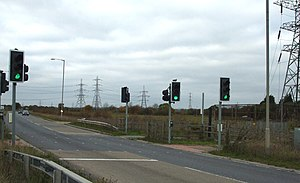 A129 road - Pegasus crossing near Shotgate