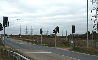A129 road - Pegasus crossing near Shotgate