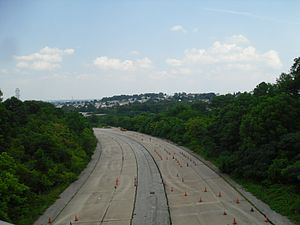 Pennsylvania Route 23 - The Schuylkill Parkway freeway stub in Bridgeport