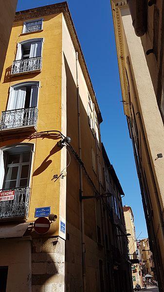 Coin des Rues de la Cloche d'or et de la Poissonnerie à Perpignan