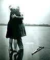 Perron Shinneman and Wife Embrace, August 1966 (26576651790).jpg