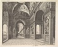 Perspective view of the interior of a hall, with cross-vault decorated with grotesques, plate 18, from Scenographiae sive Perspectivae MET DP828125.jpg