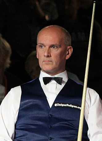 2005 Masters (snooker) - Peter Ebdon (pictured in 2018) achieved the only whitewash of the tournament against David Gray.