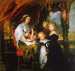 Deborah Kip, Wife of Sir Balthasar Gerbier, and Her Children