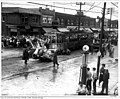 Peter Witt streetcar in a Truck and streetcar accident, Danforth Avenue.jpg