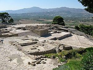 Phaistos Disc - Palace complex at Phaistos