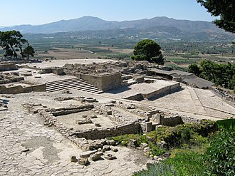 Phaistos Disc - Palace complex at Phaistos