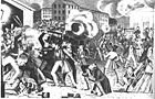 The July 7, 1844 riot in Southwark.