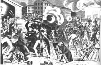 History of Philadelphia - A nativist riot in Southwark, July 7, 1844
