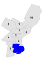 Philadelphia city council districts 1957.png