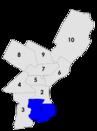 Philadelphia city council districts 1957.png