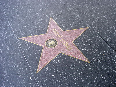 Philip Dunne's star on the Hollywood Walk of Fame. PhilipDunneStar.JPG