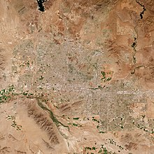 A photo taken from space of the Phoenix Area