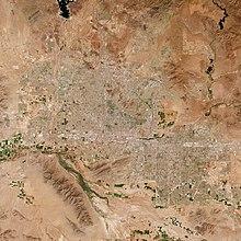 Una foto scattata dallo spazio della Phoenix Area Phoenix