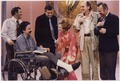 Photograph of First Lady Betty Ford Signing the Cast of a Television Crew Member, Following the Taping of the 1976... - NARA - 186827.tif