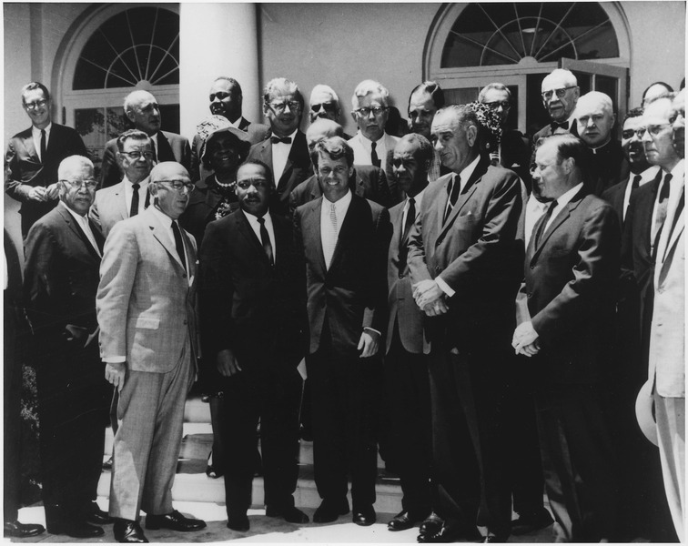 File:Photograph of White House Meeting with Civil Rights Leaders. June 22, 1963 - NARA - 194190.tif