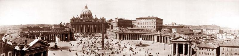 Piazza st. peters rome 1909