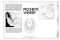 Picchetti Winery, 13100 Montebello Road, Cupertino, Santa Clara County, CA HABS CAL,43-CUP,2- (sheet 1 of 4).png