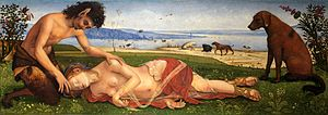 Piero di Cosimo - The Death of Procris, c. 1495