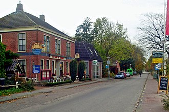 "Hunsingo - Hotel called ""Wapen van Hunsingo"" (coat of arms of Hunsingo) in Pieterburen"