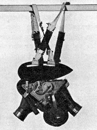 Pigeon photography - The patented camera with cuirass and harness
