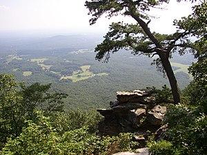 Pilot Mountain (North Carolina) - Image: Pilot Mountain NC view