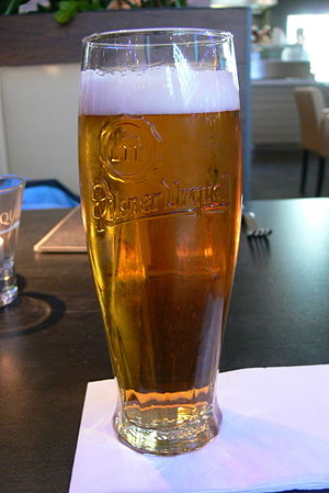 Beer in the Czech Republic - A glass of Czech lager
