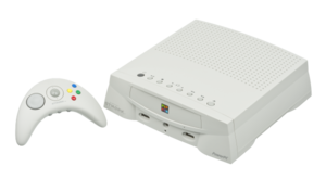 The Japanese Bandai Pippin (Atmark Player) and wireless controller