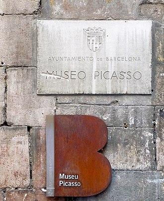 Museu Picasso - Museu Picasso, Plaque
