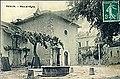 Place église Tencin CPA.jpg