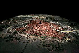 Plan-relief - Plan-relief of Strasbourg, one of the 1:600 scale models requested by Louis XIV. On display at Strasbourg historical museum