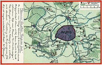 Fort de Châtillon (Paris) - German post card showing the fortifications of Paris