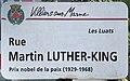 Plaque Rue Martin Luther King - Villiers-sur-Marne (FR94) - 2021-05-07 - 1.jpg