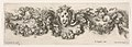 Plate 2- Design for a Frieze with Felines holding up a Garland and the Medici Coat of Arms in the Center, Plate 2 from- 'Decorative friezes and foliage' (Ornamenti di fregi e fogliami) MET DP833566.jpg