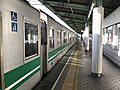Platform of Bentencho Station (Chuo Line) 3.jpg