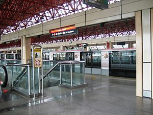 North South MRT Line - Jurong East MRT Station before the JEMP.