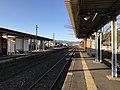 Platform of Toyotsu Station (Tagawa Line) 3.jpg
