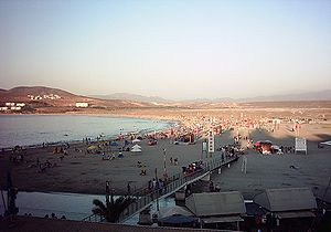 The Playa Socos or Playa Chica beach in Tongoy.