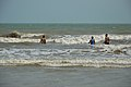 Playful People with Sea Waves - New Digha Beach - East Midnapore 2015-05-01 8690.JPG