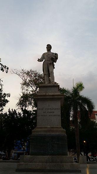 José Fernández Madrid - Plaza Fernandez Madrid, Cartagena, Colombia