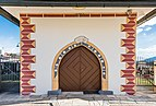 Poggersdorf Pfarrkirche hll. Georg und Jakobus d. Ä. Vorbau Portal 03012019 5760.jpg