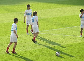 2009 Pohang Steelers season - Pohang Steelers players warming up during the 2009 FIFA Club World Cup.