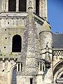 Poissy (78), collégiale Notre-Dame, flèche de la tourelle d'escalier du croisillon sud 2.jpg