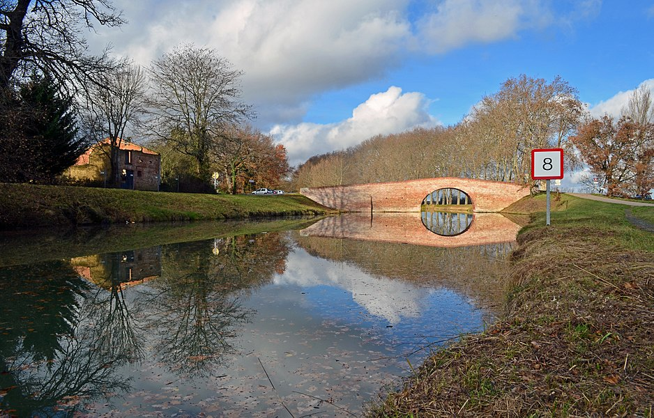 Bridge of Deyme, Canal du Midi - Pompertuzat (Haute-Garonne)