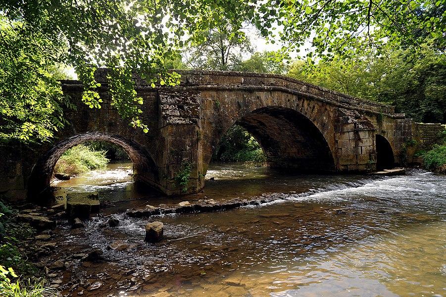 Prégibert bridge near Rolampont; Haute-Marne, France.