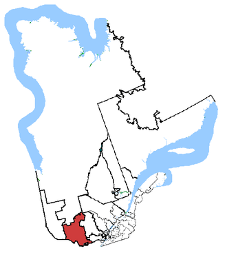 Pontiac (electoral district) - Pontiac in relation to other Quebec federal electoral districts